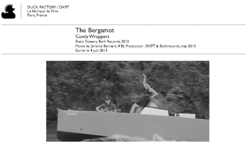 The Bergamot (Candy Wrappers, Static Flowers, Both records, 2012) in Paris may 2013